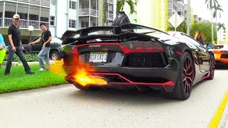 getlinkyoutube.com-BEST of Supercar SOUNDS Accelerations RACING Revs Aventador FLAMES Supercars in Crazy Action
