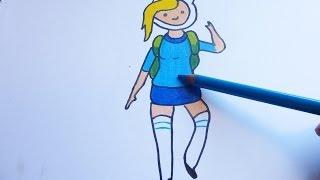 getlinkyoutube.com-Dibujando y pintando a fionna - Drawing and painting to fionna