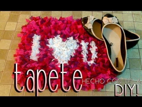 DIY: tapete hecho con tela 14 de febrero♥/rug made with fabric