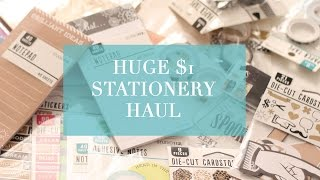 HUGE $1 Stationery Haul | Target One Spot and JoAnn's Filofax/Kikki K/ Planner Goodies!