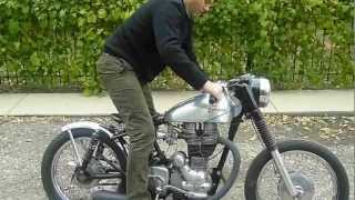 getlinkyoutube.com-Royal Enfield 1995 Bullet Bobber Starting