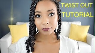 getlinkyoutube.com-Twist Out Tutorial on Natural Hair [Trying New Products]