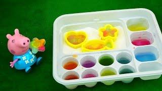 getlinkyoutube.com-Свинка Пеппа делает КОНФЕТЫ.  Учим цвета и смешиваем их. Развивающее видео для детей. Peppa Pig