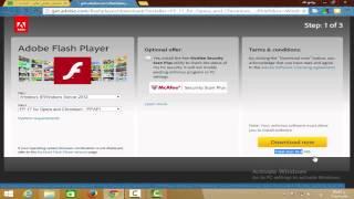 getlinkyoutube.com-طريقة تحميل وتثبيت برنامج فلاش بلاير 2016 احدث اصدار وتشغيل الالعاب ومقاطع الفيديو