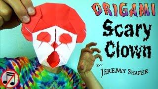 getlinkyoutube.com-Origami Scary Clown