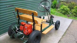 getlinkyoutube.com-Briggs and Stratton Powered Homemade Prototype Buggy