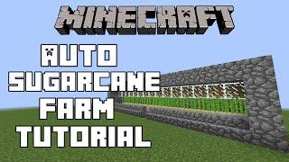 getlinkyoutube.com-Minecraft Tutorials | How to make an Automatic Sugarcane Farm