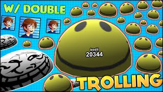 getlinkyoutube.com-AGARIO 3D TROLLING WITH DOUBLE! THE BIGGEST CELL ON THE SERVER - 20 000+ MASS! (Agar.io 3D #95)