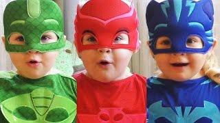 getlinkyoutube.com-Герои в Масках ПРЕВРАЩЕНИЕ Pj masks Маленькие Супергерои у нас Дома Видео для Детей Герои в Масках