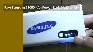 getlinkyoutube.com-Fake Samsung 25000mAh Power Bank Disassembly
