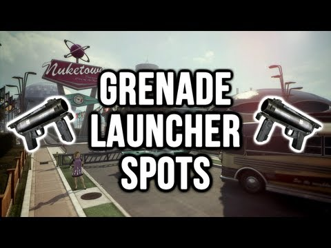 Black Ops 2: Nuketown 2025 Grenade Launcher / Noob Tube Spots (Domination & Search and Destroy)
