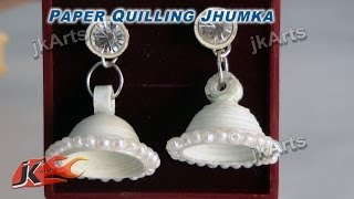 getlinkyoutube.com-DIY Paper Quilling Jewelry Jhumka |  How to make | JK Arts  295