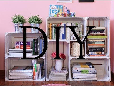 Come creare una libreria con le cassette di legno fai da te mania - Arredare casa idee fai da te ...