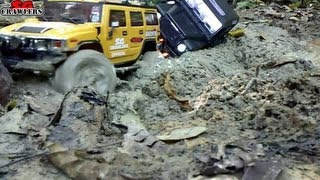 getlinkyoutube.com-15 Trucks Mudding!! Honcho Land Cruiser Defender 90 D110 Dingo Wraith Jeep