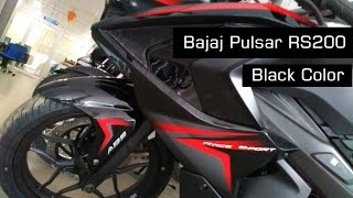 getlinkyoutube.com-Pulsar RS 200 Black Colour Tone | Looks | Keys | At Showroom 2016 | India