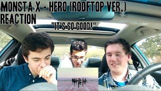 """getlinkyoutube.com-Monsta x - Hero (Rooftop ver.) Reaction (Non-Kpop fan) """"It's So Good!"""""""