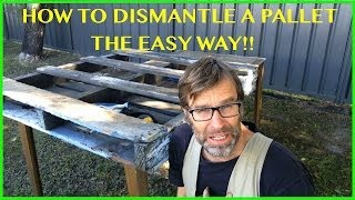 getlinkyoutube.com-How to Dismantle a Pallet. The EASY Way! Two Great Techniques.