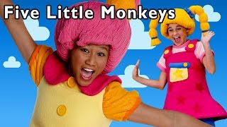 getlinkyoutube.com-Funny Bouncing Game | Five Little Monkeys and More | Baby Songs from Mother Goose Club!