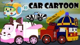 getlinkyoutube.com-car cartoons for children - Police car cartoon - Fire trucks for children kids - Cartoons for kids