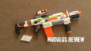 getlinkyoutube.com-Nerf N-Strike Elite Modulus ECS-10 Unboxing, Review & Range Test