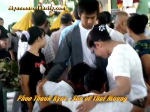 Myanmar Famous Actor, Writer and Singer, Thut Maung's Funeral