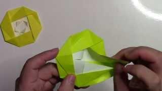 getlinkyoutube.com-【折り紙 折り方】簡単な椿の花(つばき)の作り方動画
