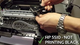 getlinkyoutube.com-HP 5510 won't print black and colors - printhead removal and cleaning