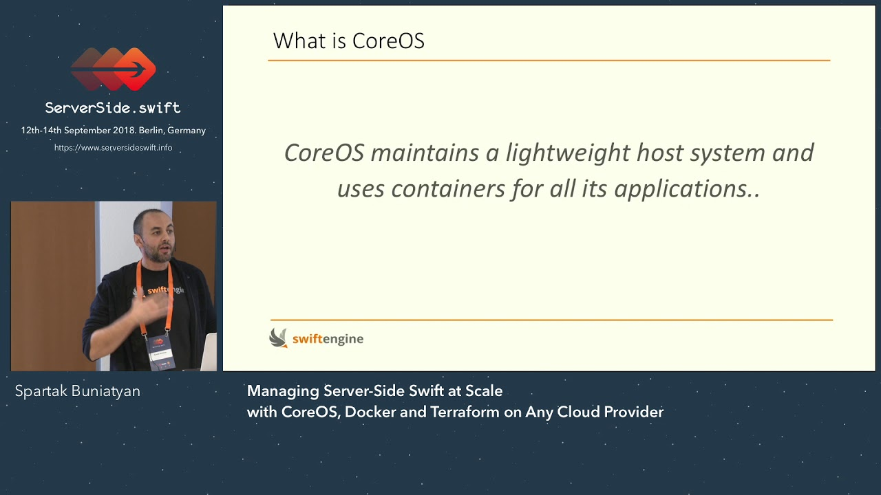 Managing Server-Side Swift at Scale with CoreOS, Docker and Terraform