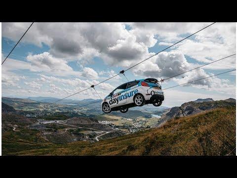 Видео: раллийный Ford Fiesta спустился по канатной дороге — Новости — Motor