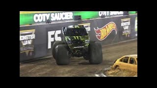 Monster Energy vs Team Hot Wheels Firestorm Monster Jam World Finals Racing Round 1 2016