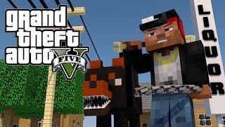 getlinkyoutube.com-Minecraft GTA V | Grand Theft Auto V Mod Ep 1! (GTA 5)