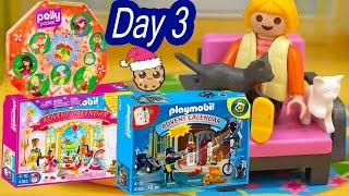 getlinkyoutube.com-Polly Pocket, Playmobil Holiday Christmas Advent Calendar Day 3 Toy Surprise Opening