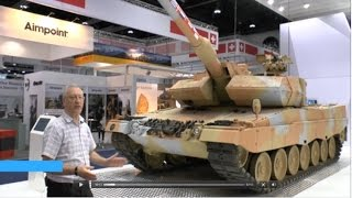 getlinkyoutube.com-IDEX 2015 – Krauss-Maffei Wegmann Leopard 2A7+ Main Battle Tank