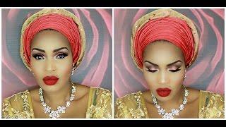 getlinkyoutube.com-Step by Step: How to tie Nigerian Gele with Pleats