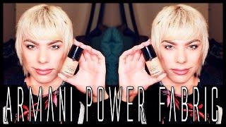 getlinkyoutube.com-ARMANI Power Fabric Foundation | Oily/Acne Prone Skin | Review & Demo!