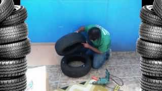 getlinkyoutube.com-Мебель из шин. Как сделать пуф своими руками