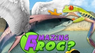 getlinkyoutube.com-Amazing Frog PC Gameplay - FLYING SHARKS?! - Part 4