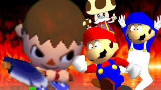 getlinkyoutube.com-SM64 bloopers: Can the Villager come out to play?