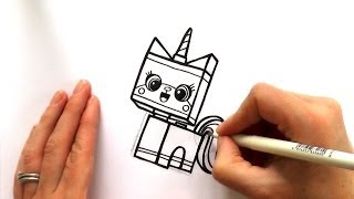 getlinkyoutube.com-How to Draw a Cartoon Unikitty from The Lego Movie - zooshii Style