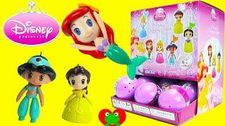 getlinkyoutube.com-Disney Princess Swinging Figures Gacha Balls Surprise Capsules Belle Ariel