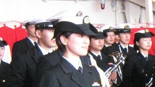 getlinkyoutube.com-2012自衛隊観艦式 護衛艦「くらま」 ~坂の上の雲~ 三宅由佳莉三等海曹