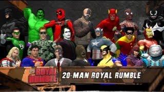getlinkyoutube.com-WWE 12 | Comic Book Royal Rumble