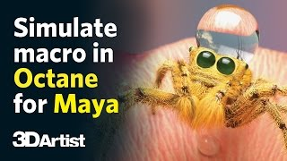 Simulate macro photography with Octane for Maya