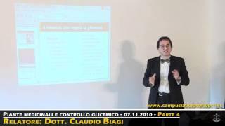 Naturopatia - 4/6 - Piante medicinali e controllo glicemico  - Dott. Claudio Biagi