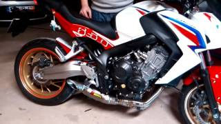 getlinkyoutube.com-AKRAPOVIC CB 650 F