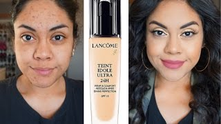 getlinkyoutube.com-Lancome Teint Idole Ultra 24 Long Wear Foundation Review Oily Skin