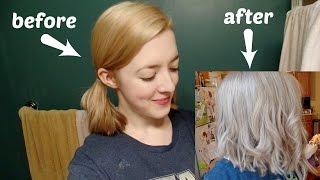 getlinkyoutube.com-TONING MY HAIR - WELLA COLOR CHARM T18 DEMO