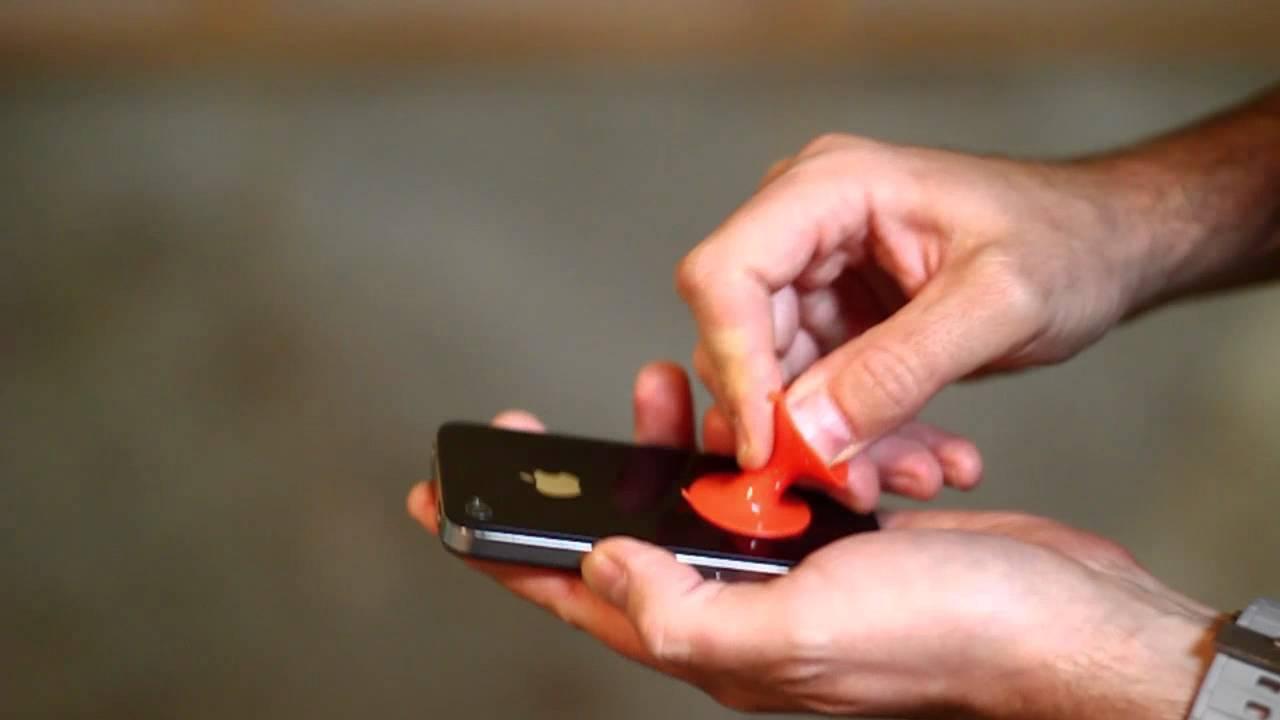 Liten sugpropp sätter fast luren på vindrutan Eller var man ni vill sätta sin telefon Feber