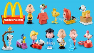 getlinkyoutube.com-2015 THE PEANUTS MOVIE MCDONALD'S COMPLETE SET OF 12 HAPPY MEAL KIDS TOYS SNOOPY REVIEW