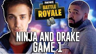 Ninja and Drake Play Duos!!! - Fortnite Battle Royale Gameplay - Game 1